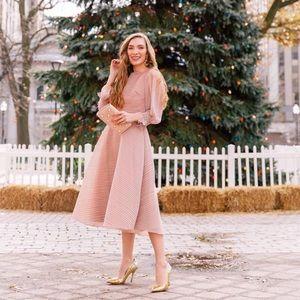 NWT Stripe Chicwish Rewind Organza A-Line Dress